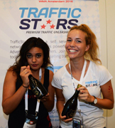 Traffic Stars promoting the xhamster beer in Amsterdam show