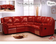 Italian leather furniture, sofas, divan, only leather furniture manufacturing companies listed in Italian Business Guide