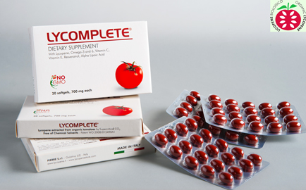Dietary supplement made in Italy with organic lycopene, Lycomplete for cardiovascular support
