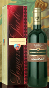 """Dimastrodonato"" I.G.T. ""Salento"" Aleatico Sweet Red Wine This is a red dessert wine obtained by letting the red Aleatico grapes dry on the stock. Harvest is delayed until bunches have lost up to 10/15% of their weight. Grapes are then picked and carried to the company-owned winery in boxes. Here they undergo classic red wine vinification. Fermentation is stopped when 13.5% vol. have been reached with 3 degrees residual sugar. Thus, a soft feeling dessert wine with strong body, an elegant scent and a sweet aftertaste is obtained"